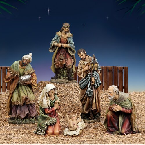 Joseph's Studio 3 Piece Scale Holy Fam Figurine Set