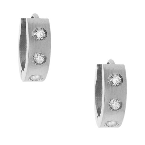 Men's Cubic Zirconia Hoop Earrings