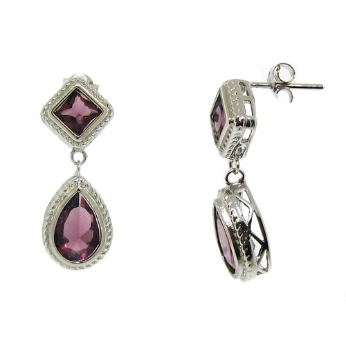 Teardrop Cubic Zirconia Dangle Earring