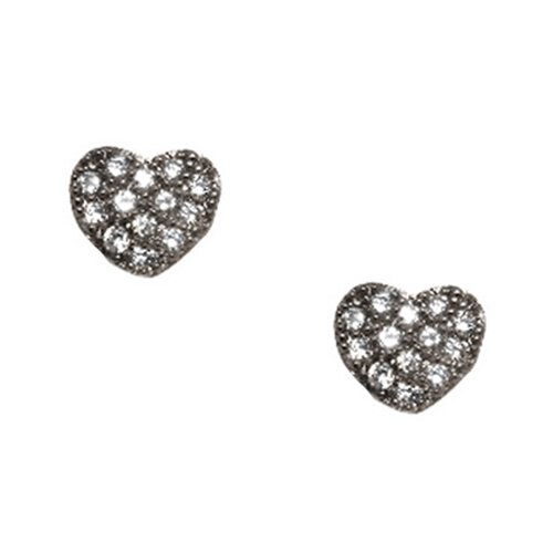 Heart Shaped Cubic Zirconia Stud Earring
