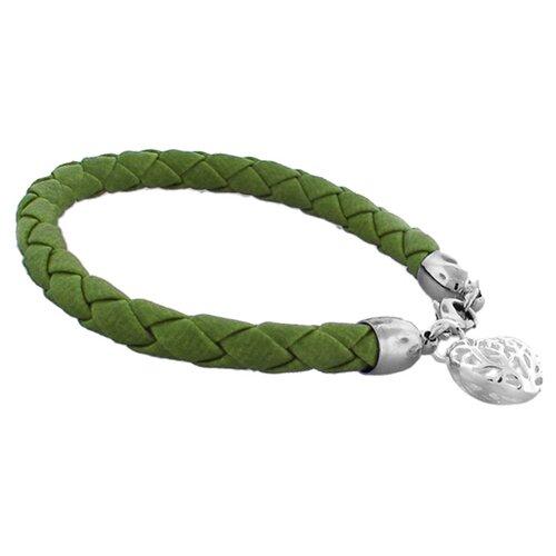 Braided Ornate Heart Charm Bracelet