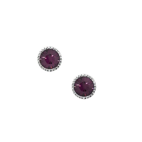 Sterling Silver 925 Brilliant Round 4mm Crystal Stud Earrings