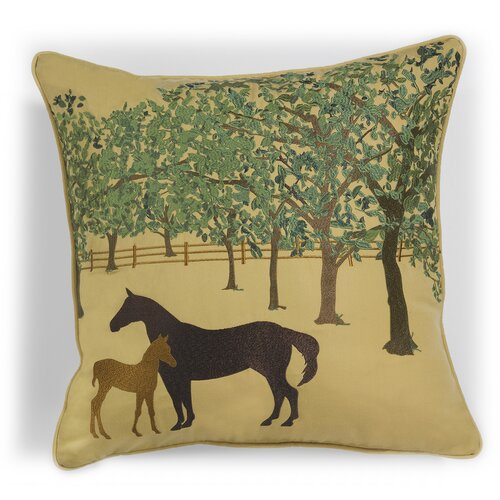 Abigail and Lily Equine Outdoor Sunbrella Summer Foal Horse Pillow