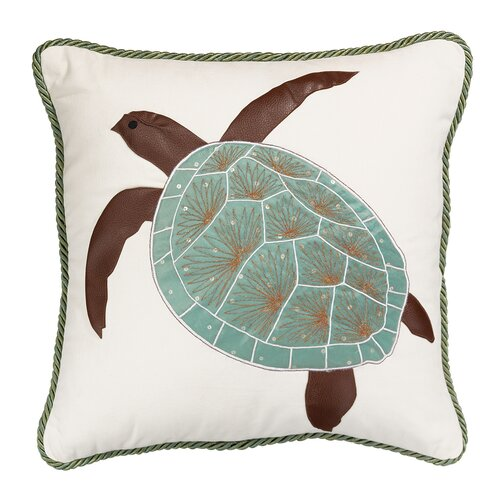 Rightside Design I Sea Life Turtle of The Sea Indoor Cotton Toss Pillow
