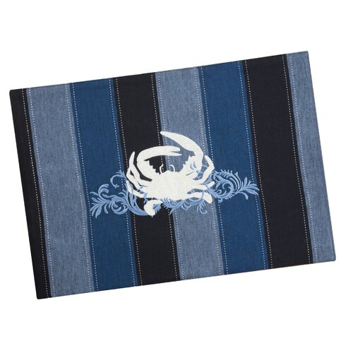 Rightside Design I Sea Life® Embroidered Crab Placemat