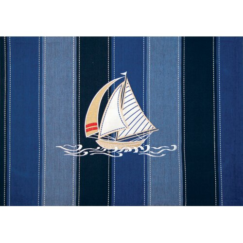Rightside Design I Sea Life® Embroidered Applied Sailboat Placemat