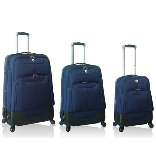 Travelers Polo & Racquet Club Lisbon 3 Piece Hybrid Luggage Set