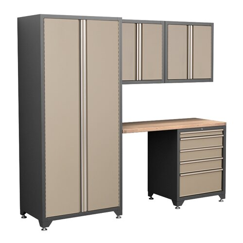 NewAge Products Pro Series 7' H x 8' W x 2' 5-Piece Cabinet Set
