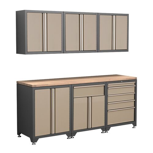 NewAge Products Pro Series 7' H x 7' W x 2' D 7-Piece Cabinet Set