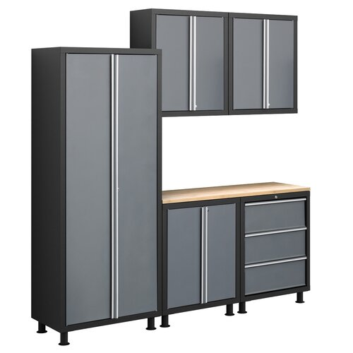 NewAge Products Bold Series 6' H x 7' W x 1.5' D 6-Piece Cabinet Set