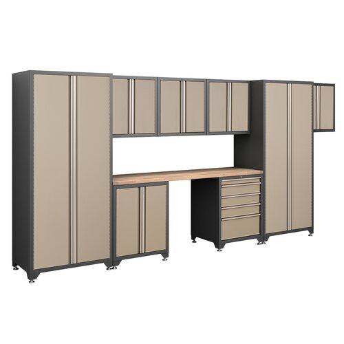 NewAge Products Pro Series 7' H x 15.5' W x 2' D 9-Piece Cabinet Set