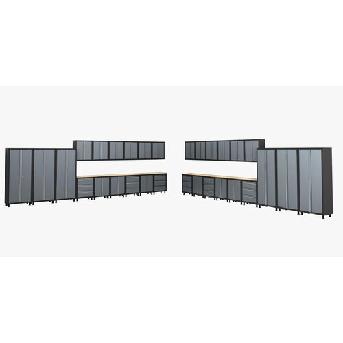 NewAge Products RTA Series 6' H x 41' W x 1.5' D 36-Piece Cabinet Set