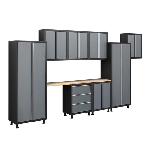 NewAge Products Bold Series 6' H x 14' W x 1.5' D 9-Piece Cabinet Set