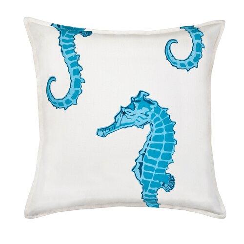 Seahorse Cotton Canvas Pillow