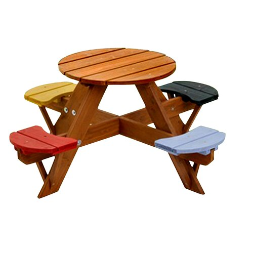 Swing Town Kids Picnic Table Amp Reviews Wayfair