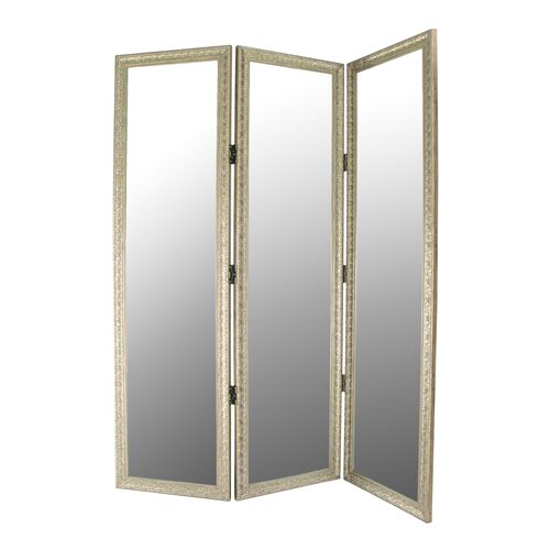 "Wayborn 72"" x 60"" Full Size Dressing 3 Panel Room Divider"