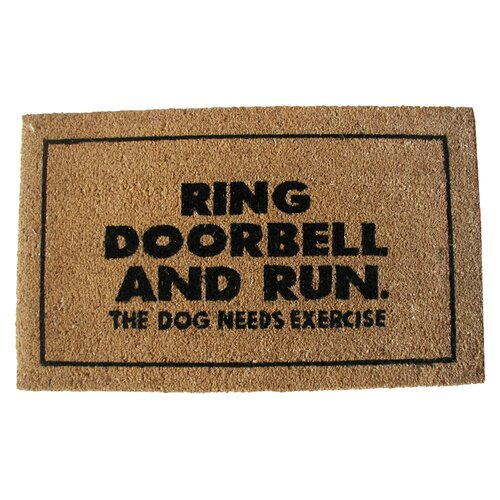 Geo Crafts, Inc Ring Door Bell Doormat