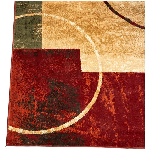 andover mills red and gold area rug reviews wayfair