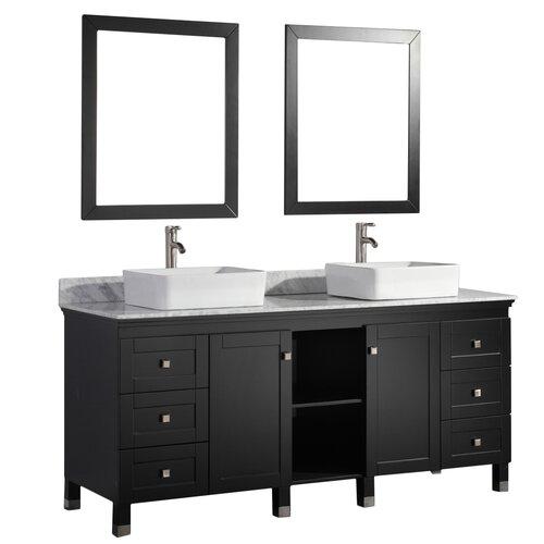 Belarus 72 Double Sink Bathroom Vanity Set With Mirror Wayfair