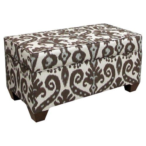 Skyline Furniture Marrakesh Upholstered Storage Bench in Cobblestone