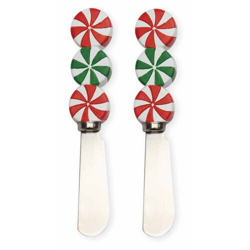 Holiday Peppermints Spreader (Set of 2)