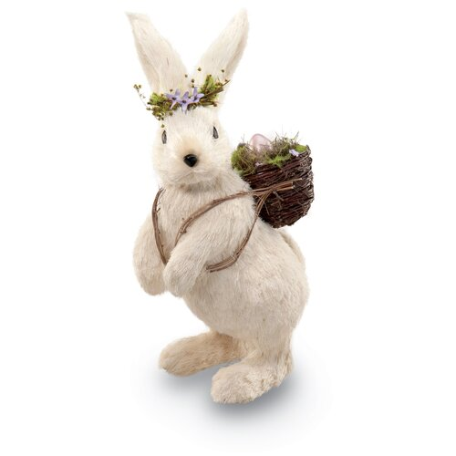 October Hill Knapsack Bunny Decorative Accent