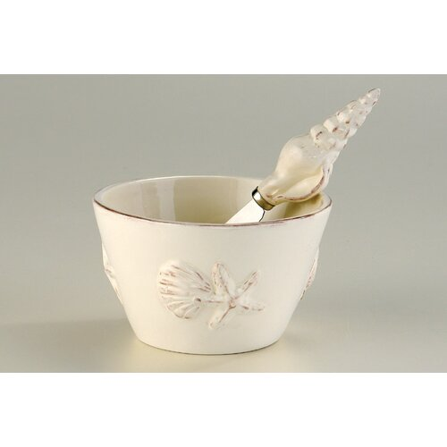 October Hill Seashell Bowl and Spreader Set