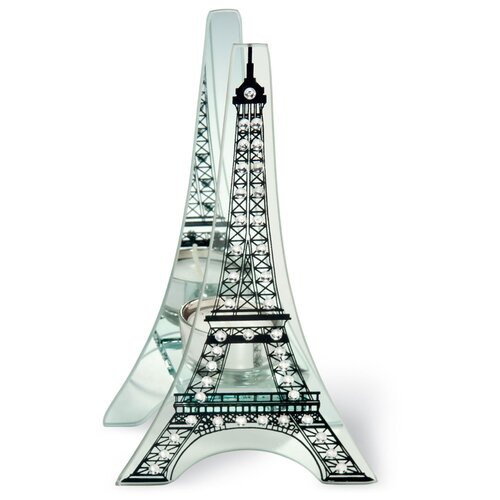 October Hill Eiffel Tower Glass Candelabra