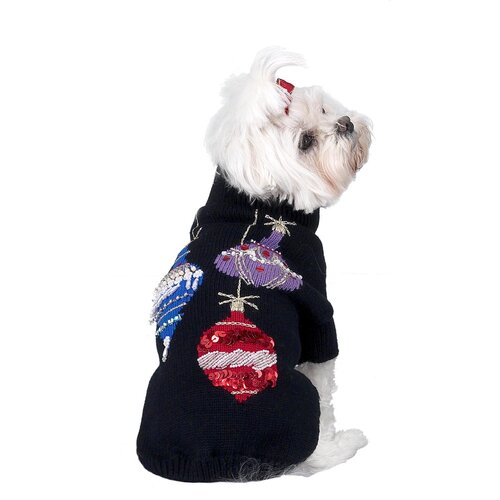 Sequins and Beads Ornaments Christmas Dog Sweater