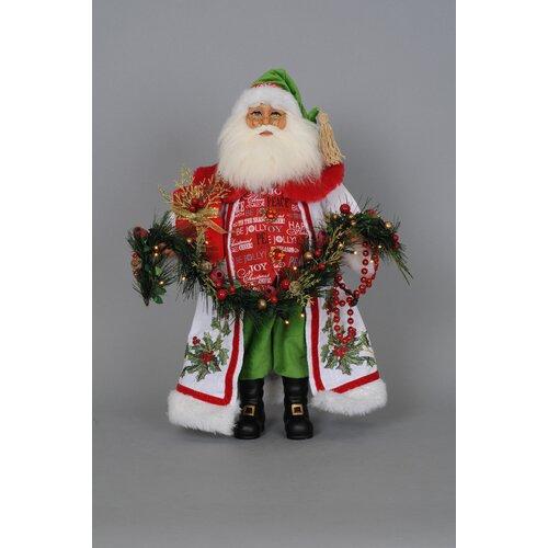 Crakewood Lighted Holly Sparkle Santa