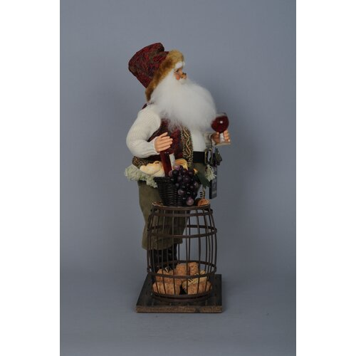 Karen Didion Originals Crakewood Cork Collector Santa Claus Figurine