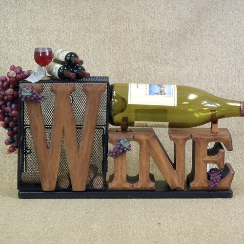 Classic Home Cork Collector Tabletop Wine Rack