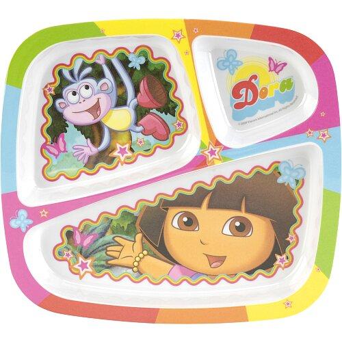 Zak! Nickelodeon Dora the Explorer 3 Section Tray
