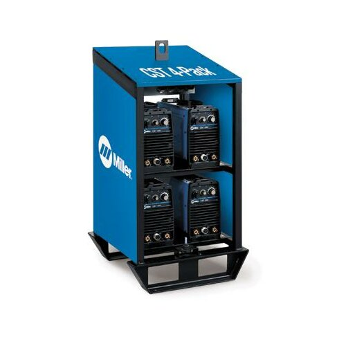 Miller Electric Mfg Co 280 and Maxstar 200 Rack 220-230V Stick Welder with Four CST 280 Units Linked