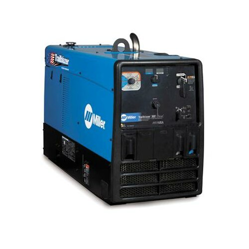 Miller Electric Mfg Co Trailblazer 302 Diesel Multi-Process Generator Welder 300A with 19HP Kubota Diesel Engine and GFCI Receptacles