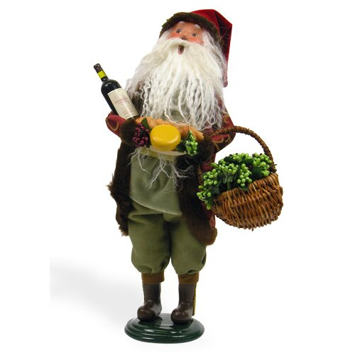 Byers' Choice Wine Santa Figurine