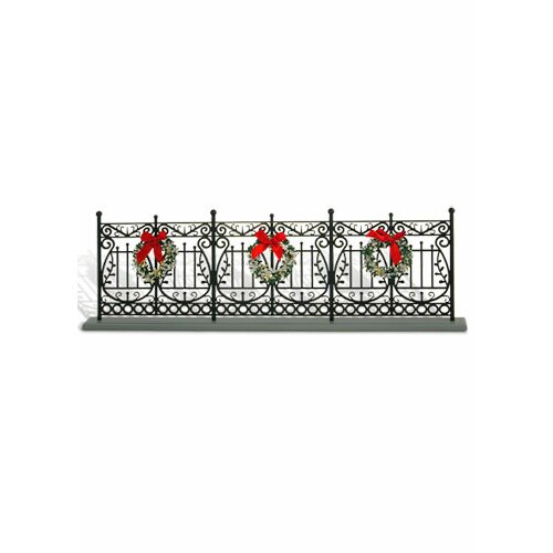 27 In To 37 In Christmas Day Carolers With Songbooks 4: Byers' Choice Wrought Iron Fence Christmas Decoration