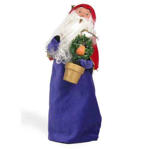 Byers' Choice 12 Days of Christmas: Partridge in Pear Tree Santa Figurine