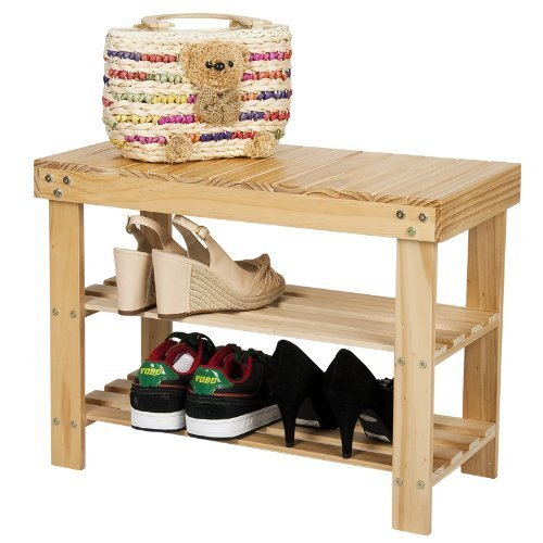 Pine Solid Wood Shoe Rack