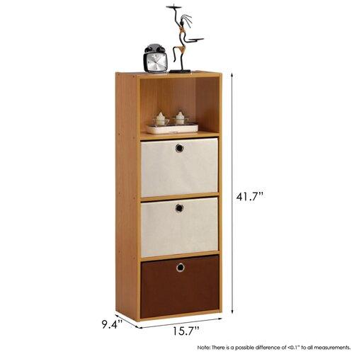 """Furinno Click-N-Easy Tiada 41.7"""" Bookcase"""