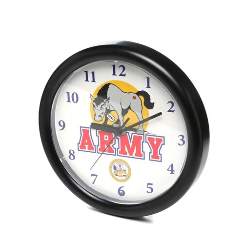 "Trademark Global 9.75"" Deluxe Chiming US Army Wall Clock"