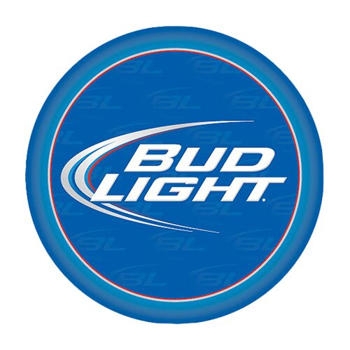 "Trademark Global 30"" Bud Light Bar Stool with Cushion"