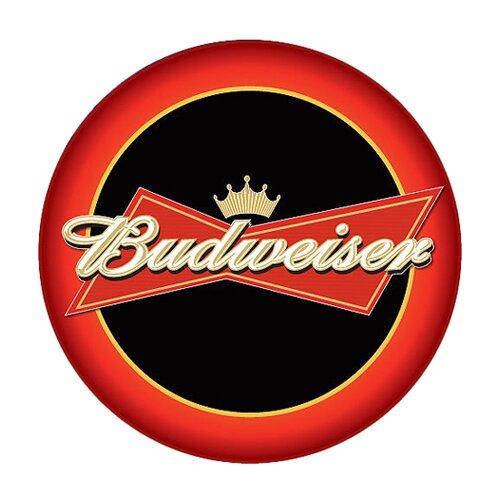 "Trademark Global Budweiser 30"" Bar Stool with Cushion"