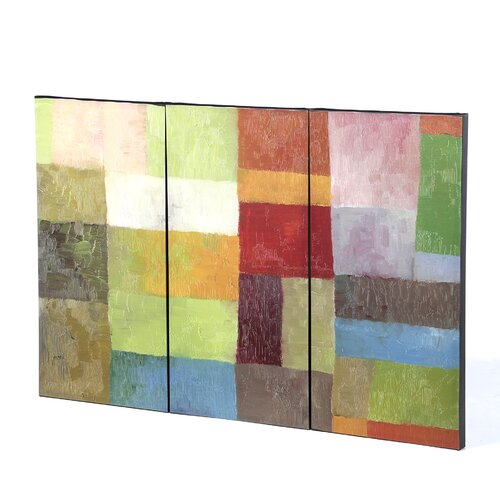 Trademark Global Color Panels IV by Michelle Calkins 3 Piece Painting Print on Canvas Set