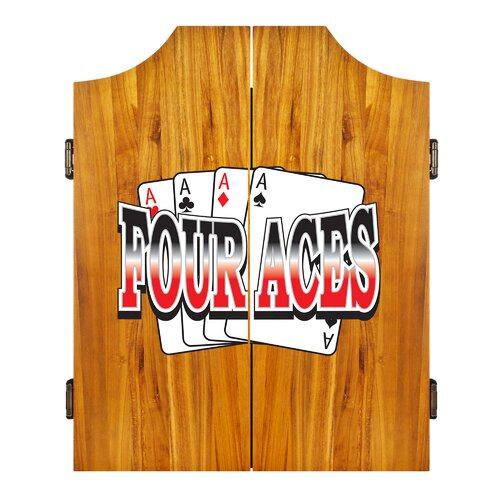 Trademark Global Four Aces Dart Cabinet Set