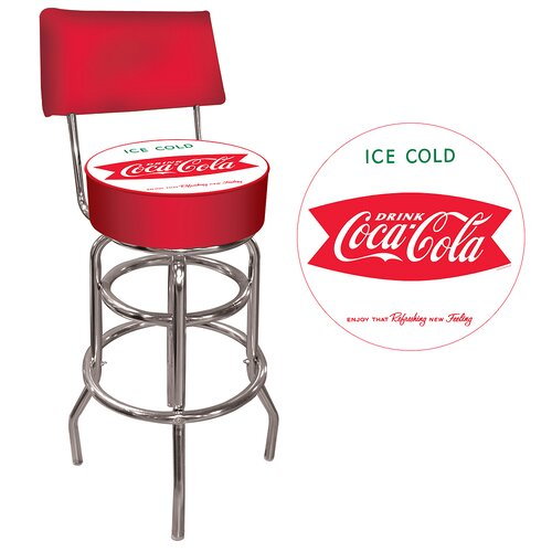 Trademark Global Coca Cola Vintage Coke Pub Bar Stool