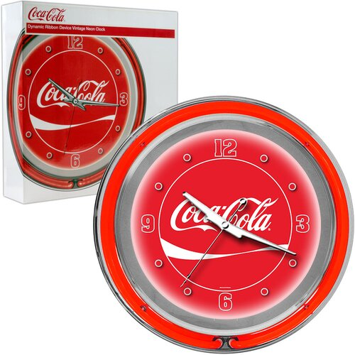 "Trademark Global Coca Cola 14.5"" Wall Clock"