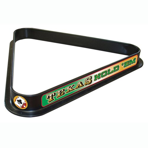 "Trademark Global Texas Hold""em Billiard Ball Triangle Rack"