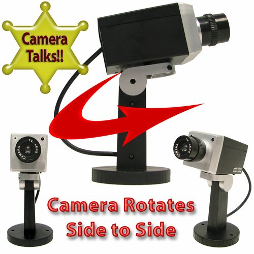 Trademark Global Simulation Security Camera with Talking Warnings