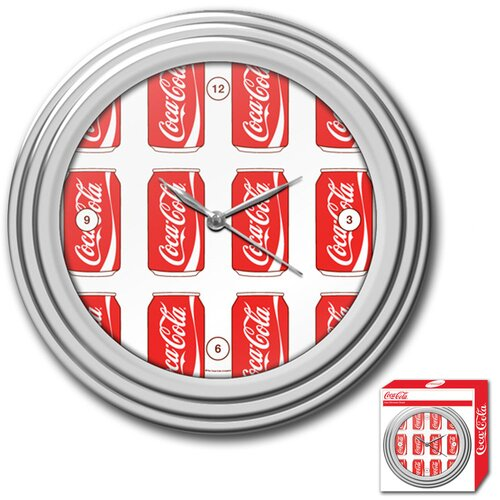 "Trademark Global Coca Cola 11.75"" Cans Style Wall Clock"